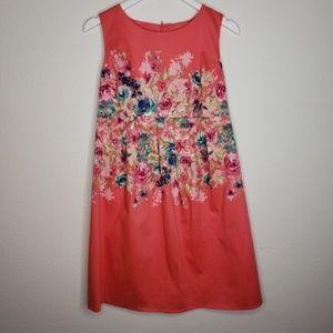 Motherhood Maternity Coral Floral Dress